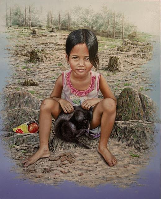 La princesa descalza,pintura retrato del pintor Pedro Vergara
