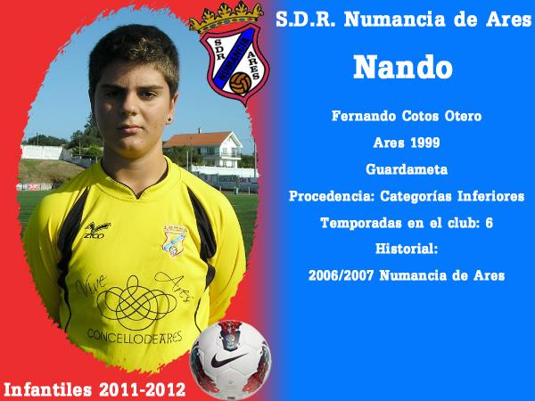 ADR Numancia de Ares. Infantís 2011-2012. NANDO.