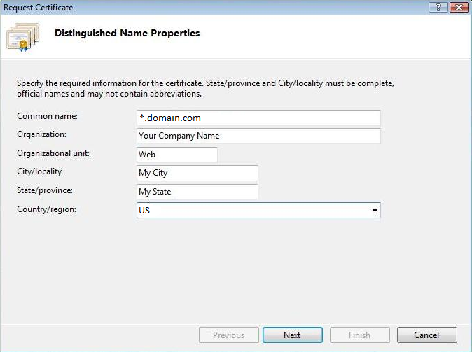 How To Generate CSR For Wildcard SSL Certificate In IIS 7?