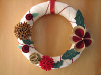 corona de Navidad/Christmas wreath