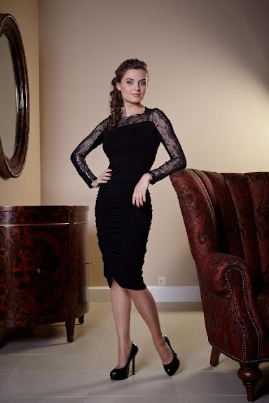 Красивое платье с сеткой