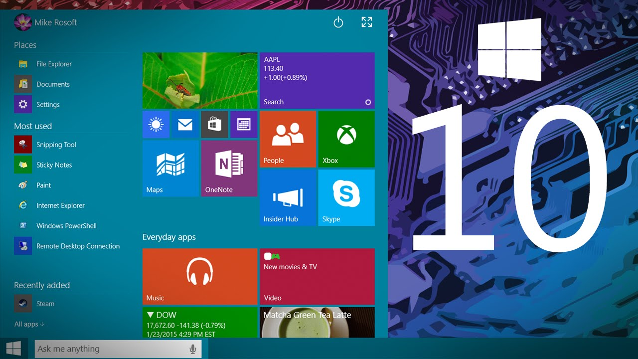 Windows 10: Il Nuovo Menu Start