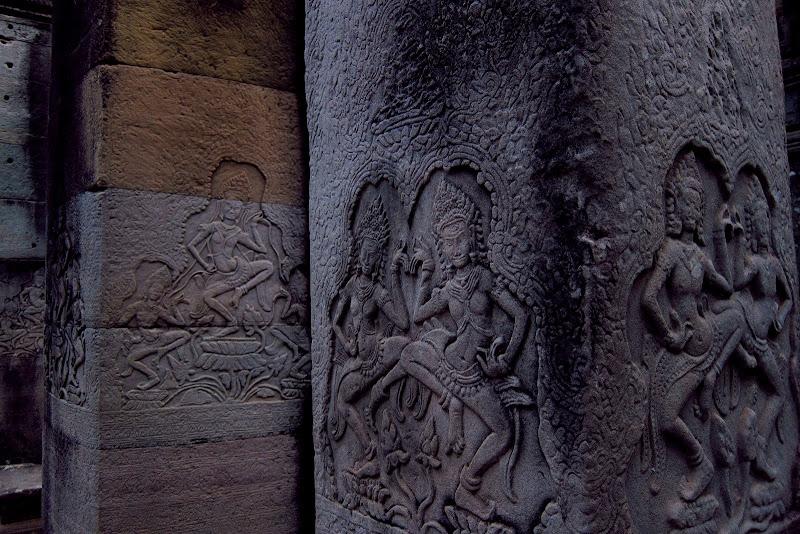 Apsaras on columns
