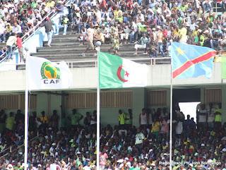 Au stade des Martyrs à Kinshasa le 08/04/2012 , lors du match V. Club de la RDC contre Asolchlef d'Algérie, score : V. Club 2- Asolchlef 3. Radio Okapi/ Photo John Bompengo