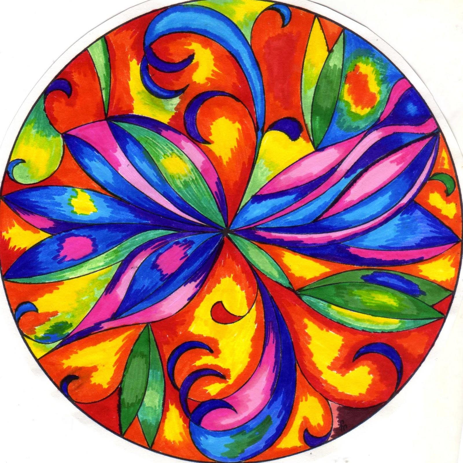 El delirio del Lirium Mandalas pintando diseos ajenos 1