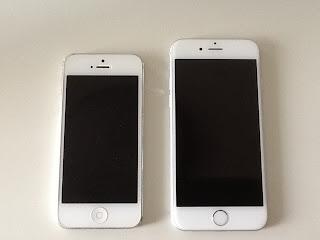 iPhone5とiPhone6の比較