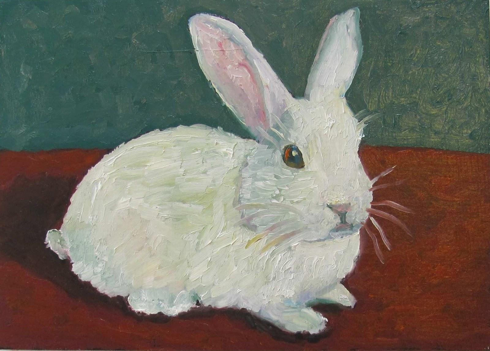 Daily Painters Of Colorado: Susan Spohn --- White Rabbit
