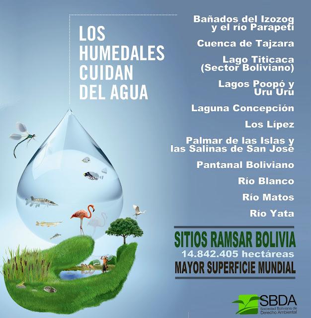 Bolivia tiene la mayor superficie en humedales de importancia internacional