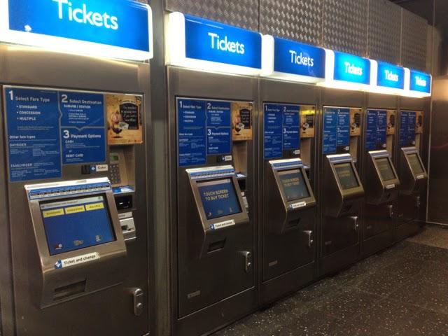 Perth Underground Ticket Machine