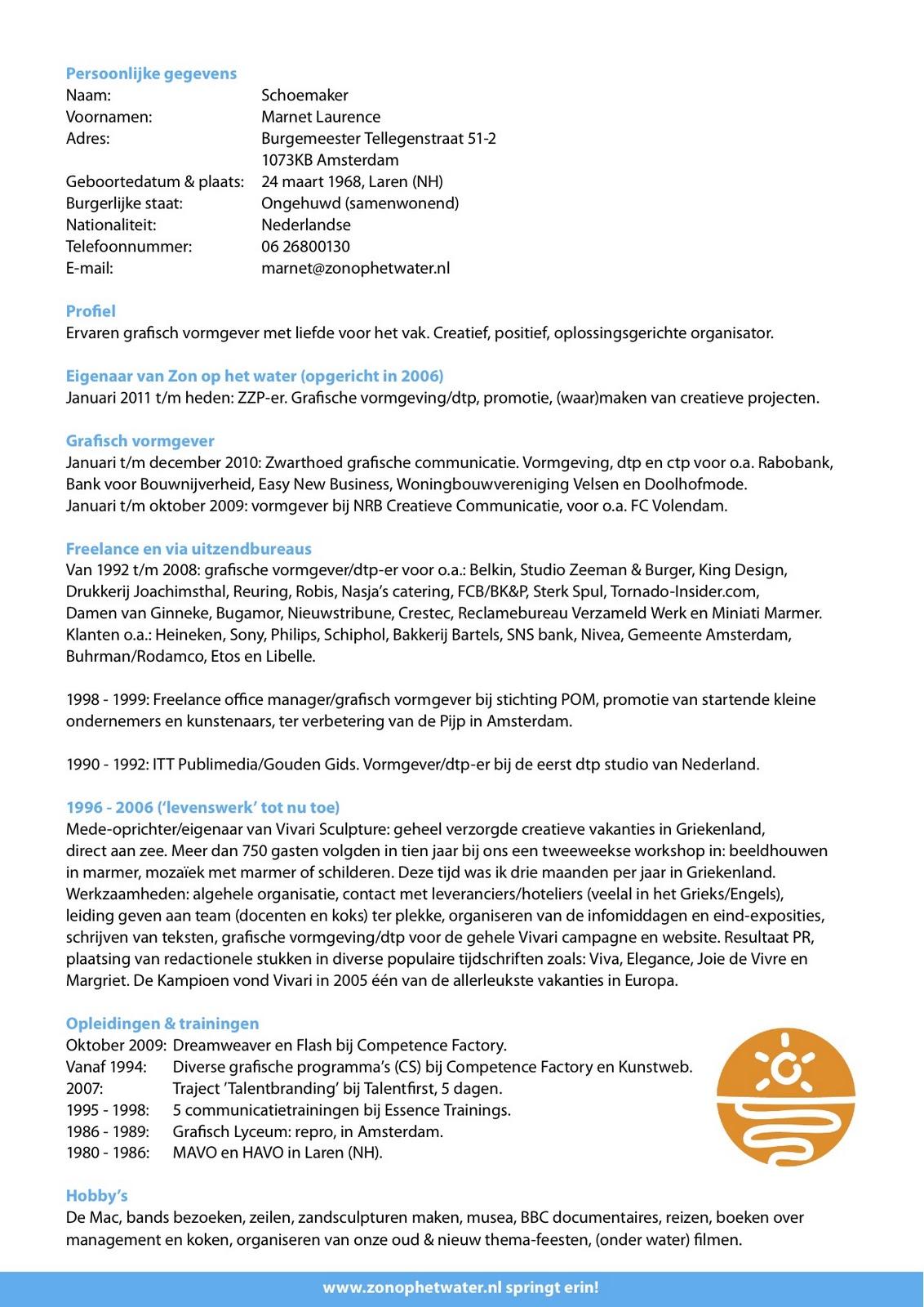 cv in nederlands Curriculum Vitae Example Nederlands | plks.tk