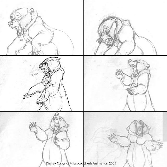 farouk animation art  disney prod sketches
