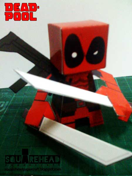 Deadpool Paper Toy