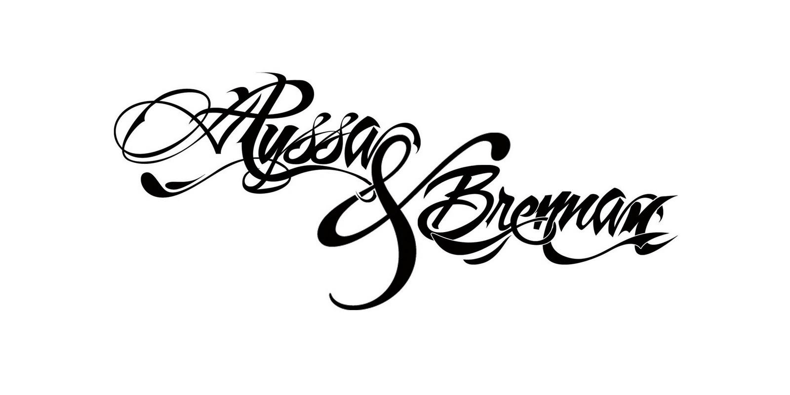 Typography Tattoo Design