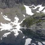Reflet du Port de Venasque dans le lac