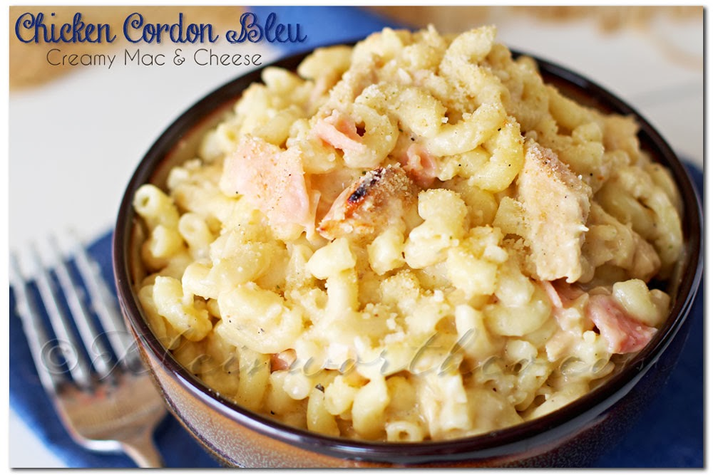 Chicken Cordon Bleu Creamy Mac & Cheese