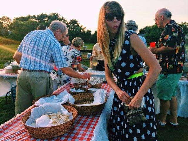Trishawna, Goldrush, rehearsal dinner, clam bake, clam chowder