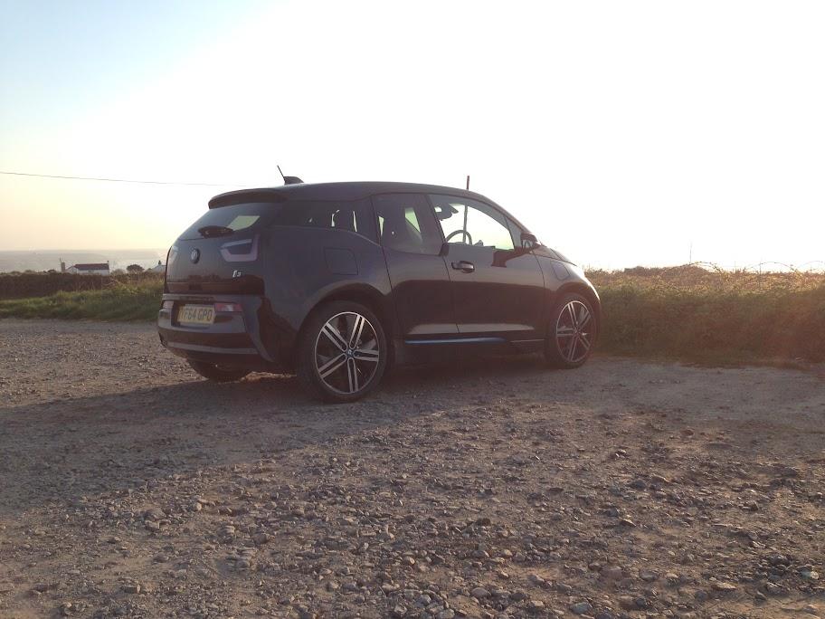Sun going down a BMW i3