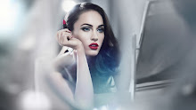 brunettes women black red mirror megan fox blue eyes actress lips celebrity lipstick red lips 192 Wallpaper