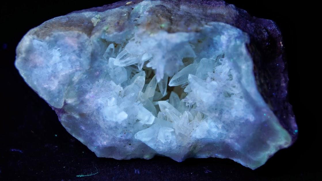 Colección de Minerales Fluorescentes - Página 3 Calcita+diente+de+perro%252CUVC