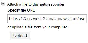 attach files to autoresponder