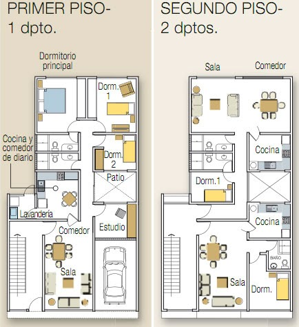 Planos de flats y duplex planos de casas gratis y for Planos de casas 200m2