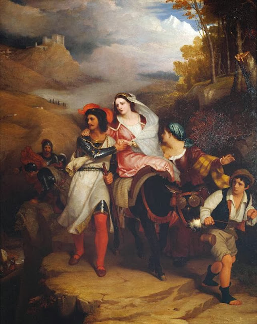 Charles Lock Eastlake - The Escape of Francesco Novello di Carrara, with his Wife, from the Duke of Milan