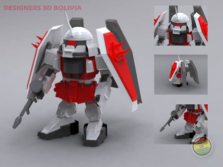 SD Blaze ZAKU Phantom Gundam Papercraft