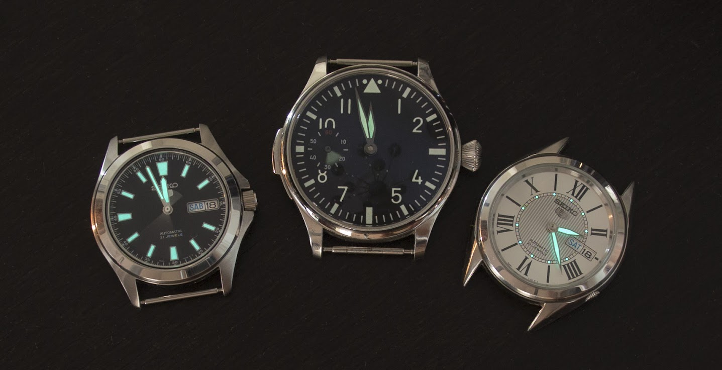 The Seiko lume is plenty for me. Parnis' is barely there, which is too bad because it has an awesome dial.