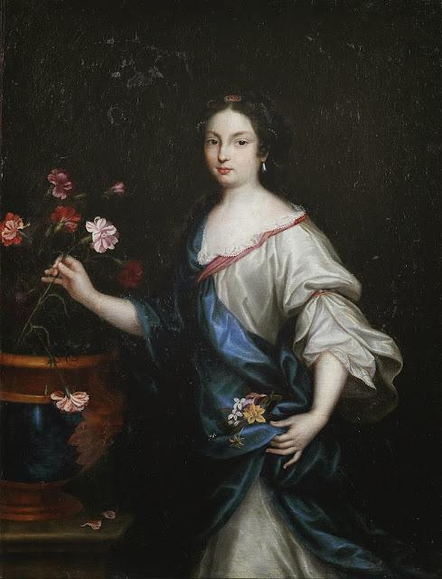 Pierre Mignard - Claude de Vin des Oeillets (Mademoiselle des Oeillets, 1637-1687), mistress of Louis XIV of France