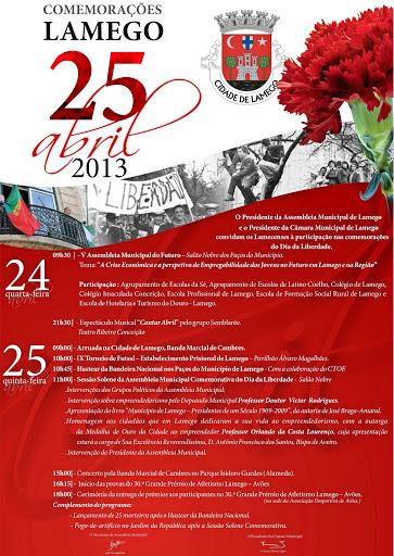 Comemorações 25 de Abril – Dia da Liberdade em Lamego
