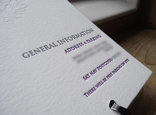Blind Deboss Letterpress