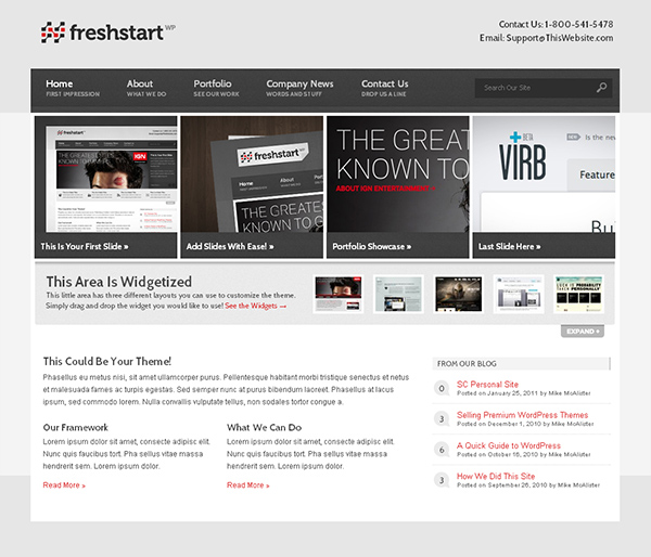 Freshstart Flexible WordPress Theme