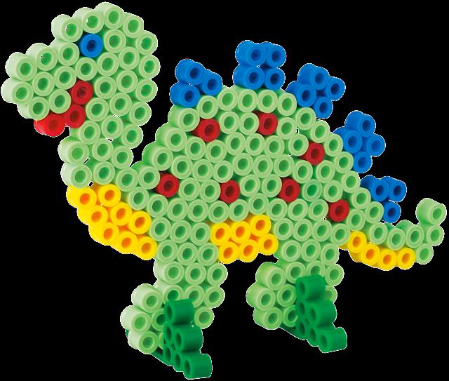 Chú Khủng long đẹp mắt trong bộ đồ chơi xếp hình Hama Maxi Dinosaur Starter Kit