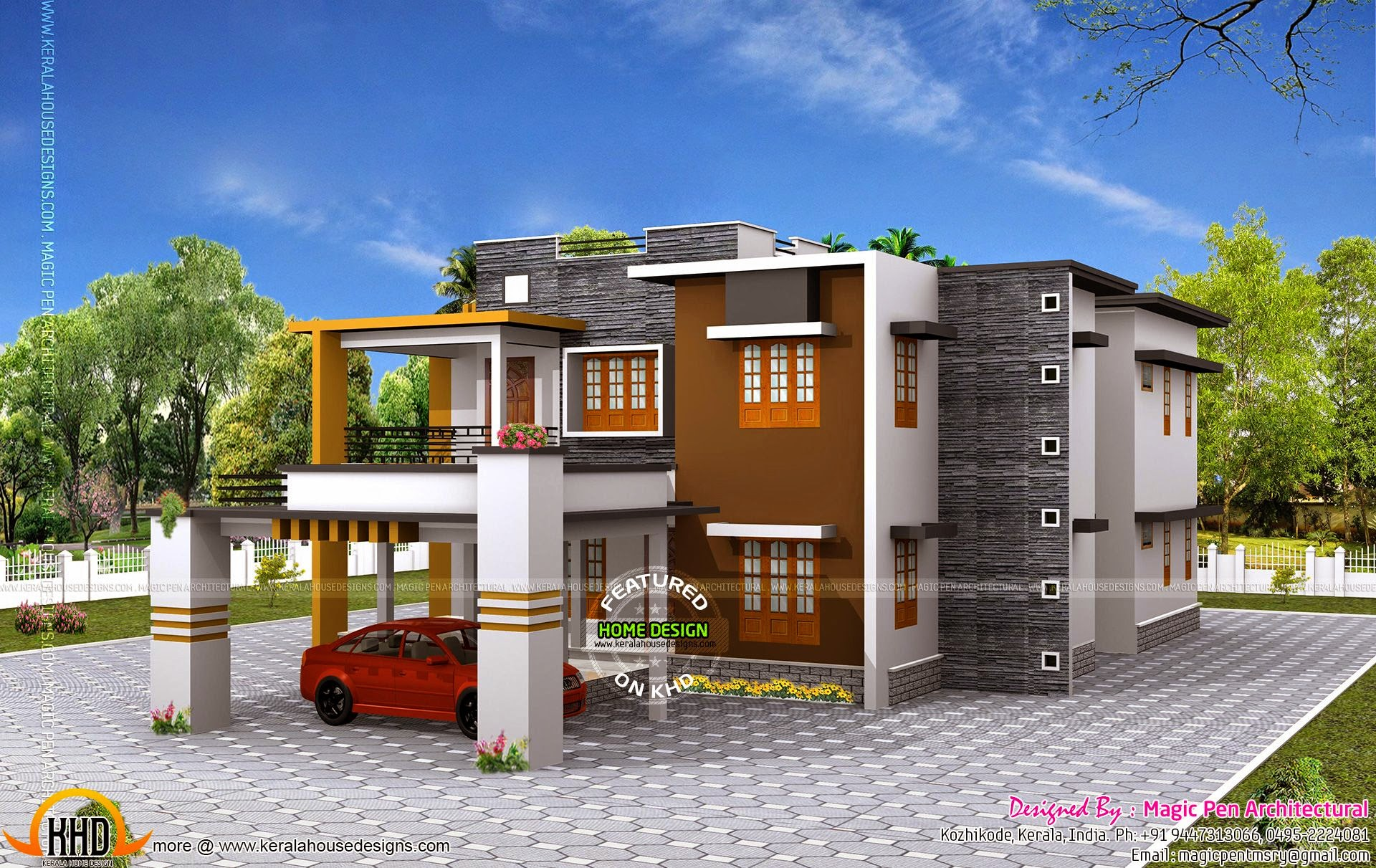 Double Floor Elevation Images : Double storied luxury residence kerala home design and
