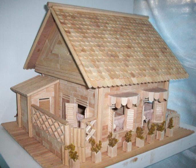 Rumah Adat Sederhana Dari Stik Es Krim | Cahaya Rumahku