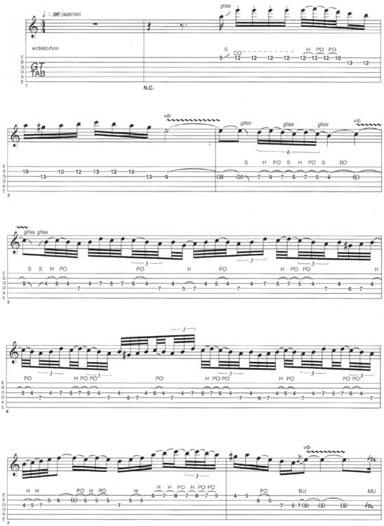 Paul Gilbert Lesson Tab