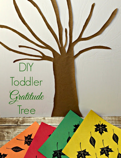 DIY Gratitude Tree for Teaching Toddlers Thankfulness