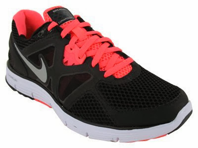 sports shoes 8343d 125a3 Nike Women s NIKE LUNARGLIDE+ 3 BREATHE WMNS RUNNING SHOES 10 (BLACK MTLLC  SIVER WHT HT PNCH)