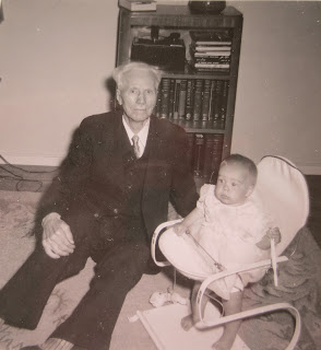 J.N. Anderson and great grand daughter Caren Anderson in 1954. Caren is Stanley's grand daughter
