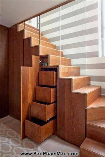 Mẹo thiết kế tủ cầu thang hữu ích - Tủ âm tường gỗ-2