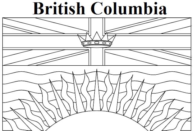 geography blog british columbia flag coloring page Columbian Clothing Coloring Page  British Columbia Coloring Pages