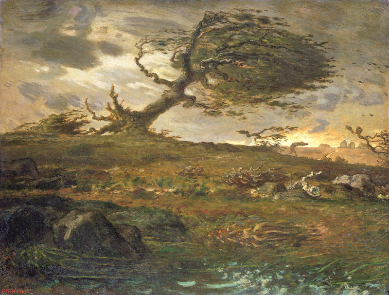 Jean-François Millet - The Gust of Wind, 1871-73