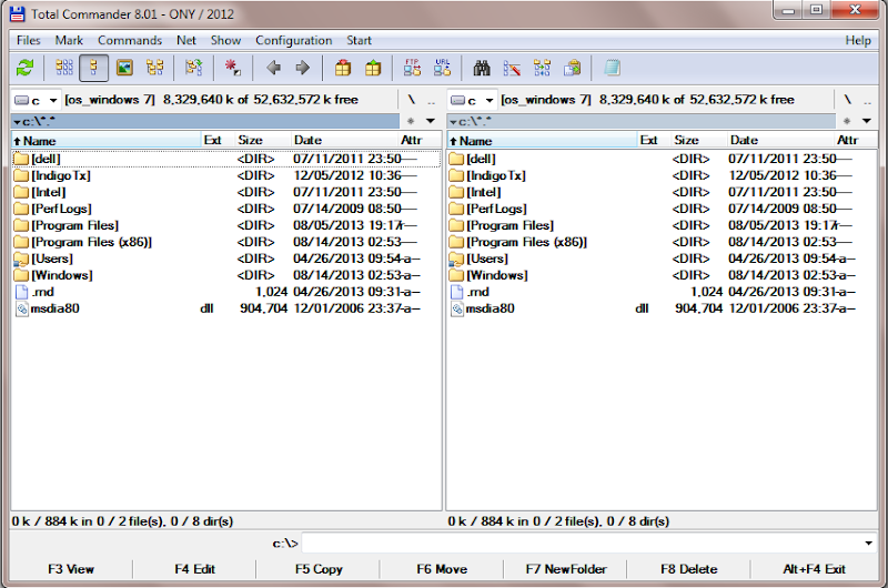 Screenshot of Total Commander v.8.01 With Crack File Manager, Commander PC Software Free Download at Alldownloads4u.Com