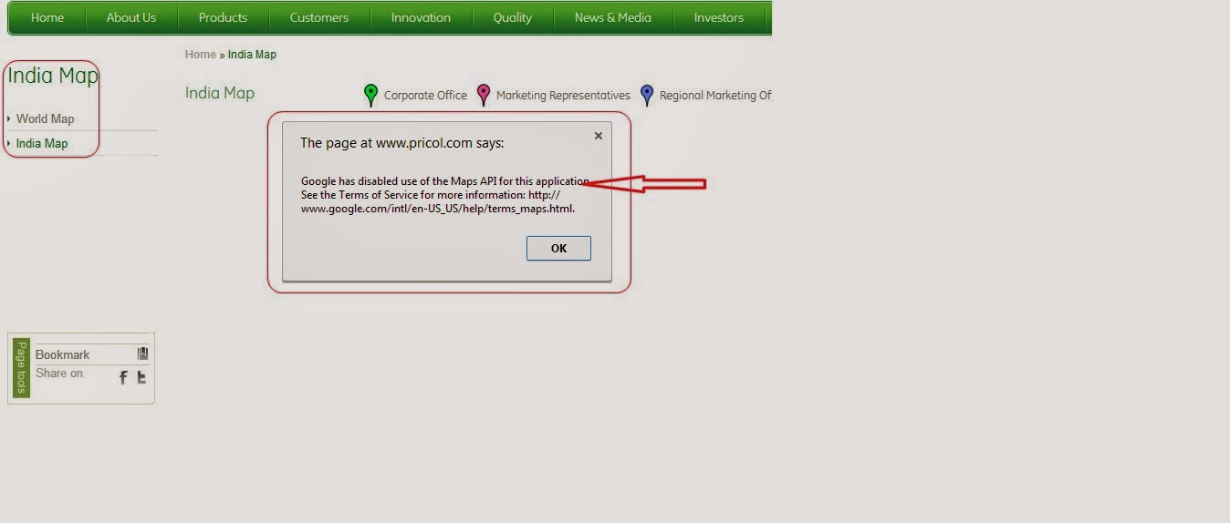 Google has disabled use of the Maps API for this application ...