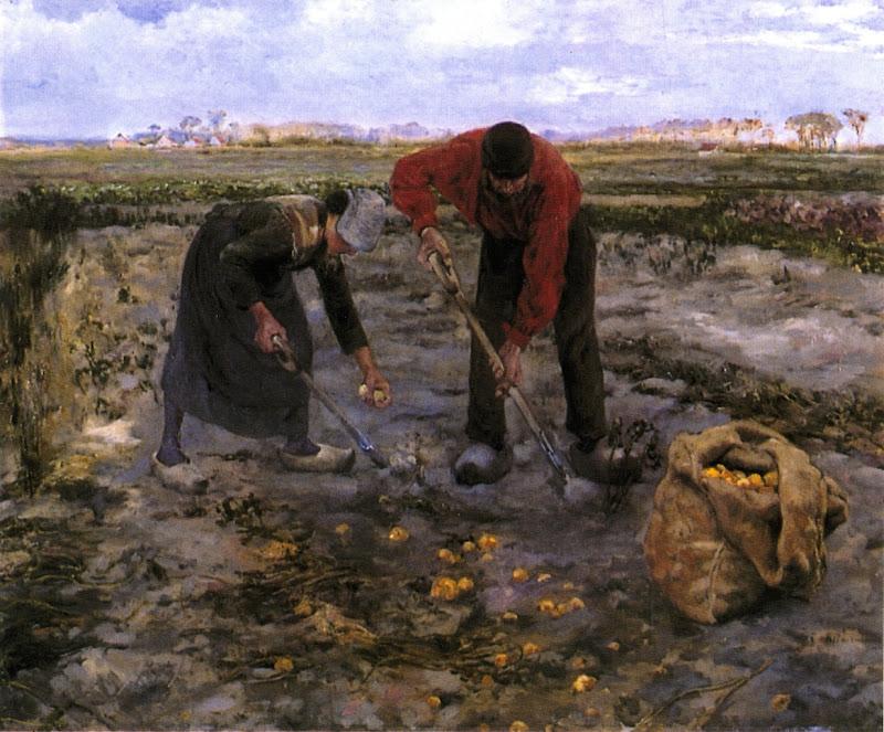 Theo van Rysselberghe - Potato Harvest