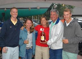 J/70 sailors- Chris & Carolyn Groobey sailing Annapolis