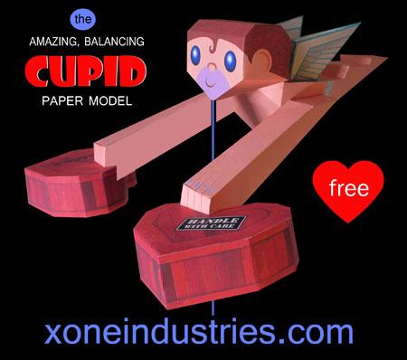 Balancing Cupid Papercraft