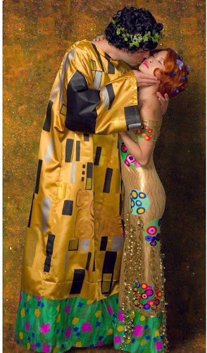 Disfraz el beso de Klimt