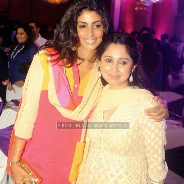 Shweta Nanda and Rinke Khanna at an event, held in a Delhi hotel.
