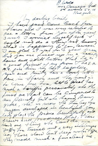 HW Letter to Vera Wald 1952